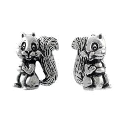 Tressa Sterling Silver Squirrel Stud Earrings