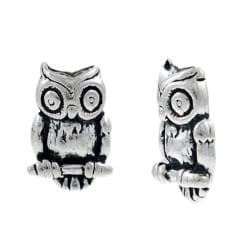 Tressa Sterling Silver Owl Stud Earrings