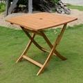 International Caravan Royal Tahiti Yellow Balau Hardwood Square-round Folding Table