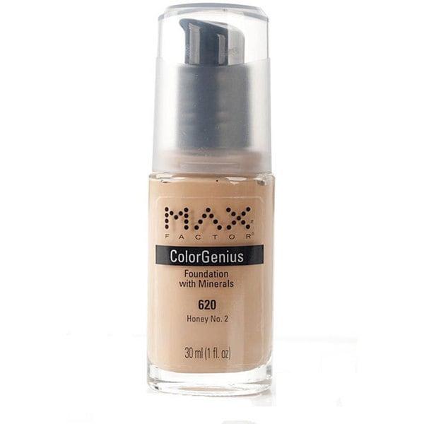 Max Factor Color Genius # 620 Honey No. 2 Foundation (Pack of 4)