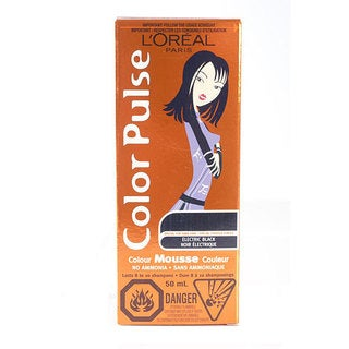 L'Oreal Color Pulse Electric Black Color Mousse (Pack of 4)