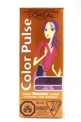 L'Oreal Color Pulse Chill Plum Color Mousse (Pack of 4)
