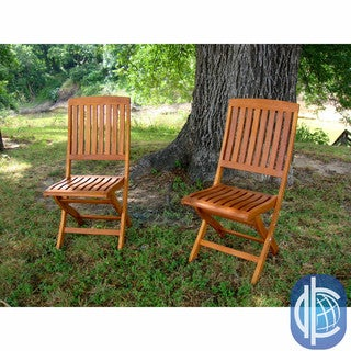 International Caravan Royal Tahiti Hardwood Folding Chairs (Set of 2)