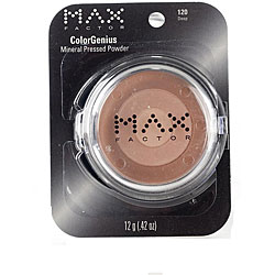 Max Factor ColorGenius #120 Deep Mineral Pressed Powder (Pack of 4)