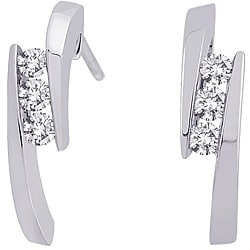 14k White Gold 1/4ct TDW Diamond Earrings (G-H, I2-I3)