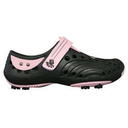 Dawgs Golf Women's Black/ Pink Spirit Shoes
