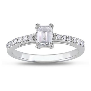 Miadora 14k White Gold 5/8ct TDW Diamond Engagement Ring (G-H, I1)