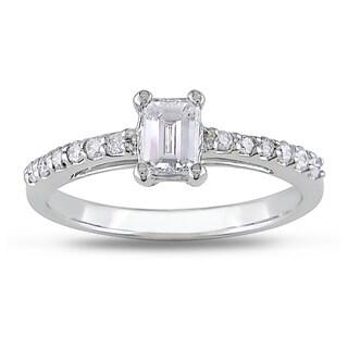 Miadora 14k White Gold 5/8ct TDW Diamond Engagement Ring (G-H, I1)