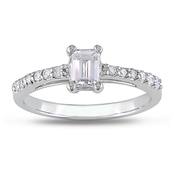 Miadora Signature Collection 14k White Gold 5/8ct TDW Diamond Engagement Ring (G-H, I1)