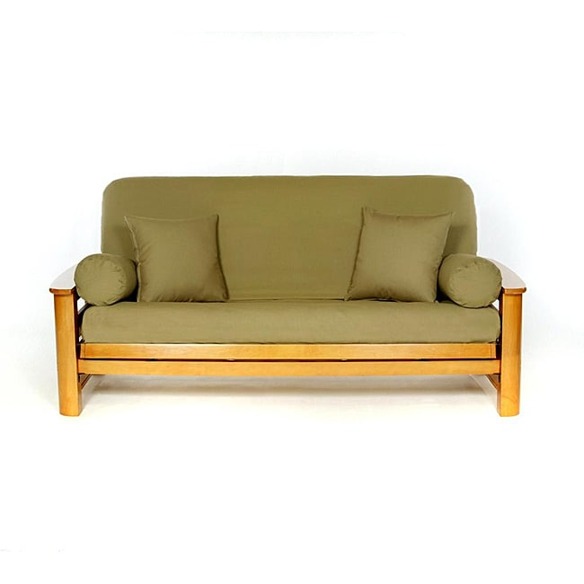 olive green full size futon cover 12936349 overstock