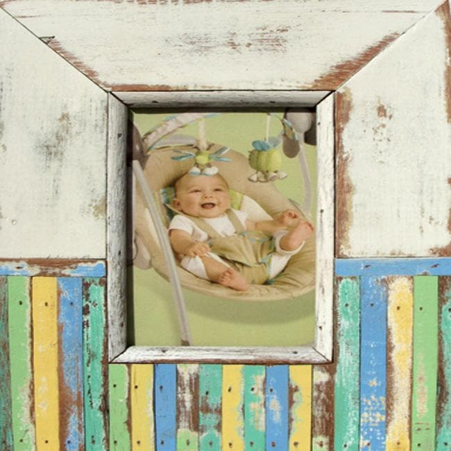 Boat Wood White and Popsicle Picture Frame (Thailand)
