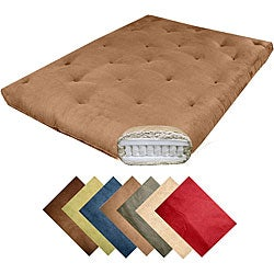 Magnificence Full-size 10-inch Pocketed Coil Microfiber Suede Futon Mattress