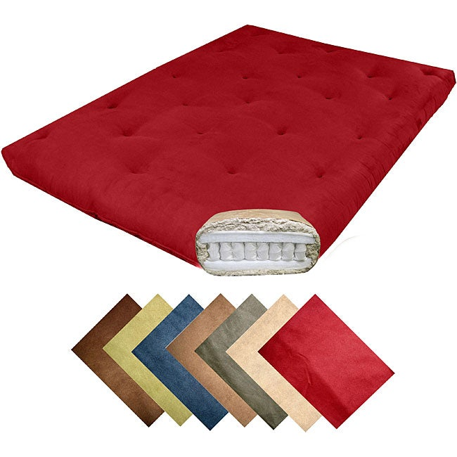 Magnificence Queen-size 10-inch Pocketed Coil Microfiber Suede Futon Mattress