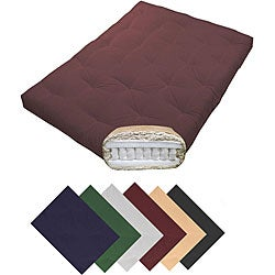 Magnificence Queen-size 10-inch Pocketed Coil Cotton Twill Futon Mattress