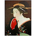 Geisha Canvas Wall Art (China)