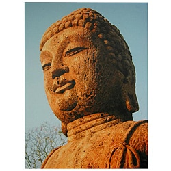Rust Color Buddha Statue Canvas Wall Art (China)