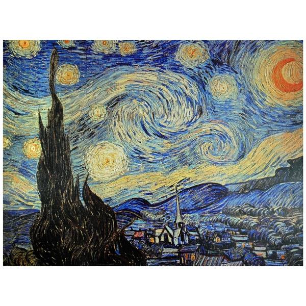 Van Gogh 'Starry Night' Canvas Wall Art (China)