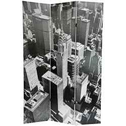 Canvas New York City Double-sided 6-foot Room Divider (China)