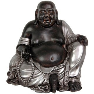 Sitting 11.5-inch Happy Buddha Statue (China)