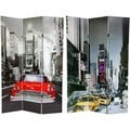 Canvas New York City Taxi Double-sided 6-foot Room Divider (China)