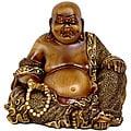 Sitting 6-inch Laughing Buddha Statue (China)