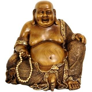 Sitting Hotei 10.5-inch Happy Buddha Statue (China)