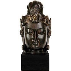Large 16-inch Cambodian Buddha Head Statue (China)
