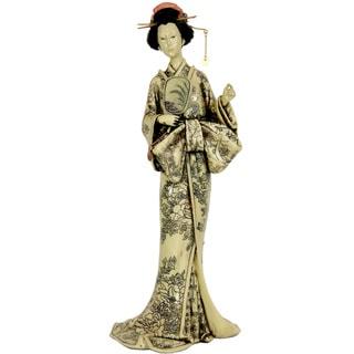 Large Bow Kimono 14.5-inch Geisha Figurine (China)