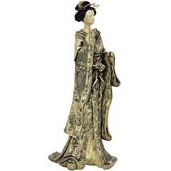 Small Bow Kimono 17-inch Geisha Figurine (China)