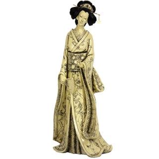 Plum Tree Kimono 14-inch Geisha Figurine (China)