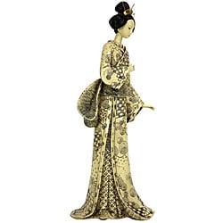 Nature Symbols Kimono 16-inch Geisha Figurine (China)