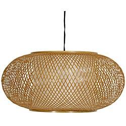 Bamboo/ Paper Kata Japanese-style 8-inch Honey Ceiling Lantern (China)
