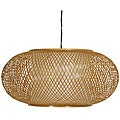 Bamboo/ Paper Kata Japanese-style 8-inch Honey Ceiling Lantern (China)