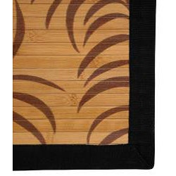 Asian 'Tropical Leaf' Rayon from Bamboo Rug (2' x 3')