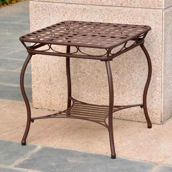 International Caravan Sante Fe Nailhead 20-inch Side Table