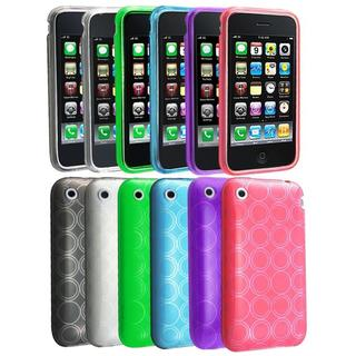 6-piece TPU Skin Cases for Apple iPhone 3G/ 3GS