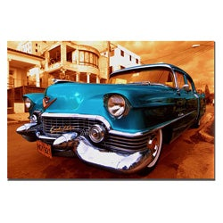 '1955 Cadilac Coupe de Ville' Gallery Wrapped Canvas Art