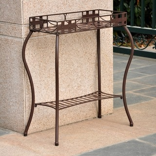 International Caravan Sante Fe Nailhead Rectangular Plant Stand