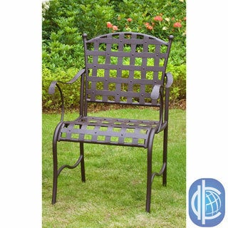 International Caravan Sante Fe Nailhead Iron Chairs (Set of 2)
