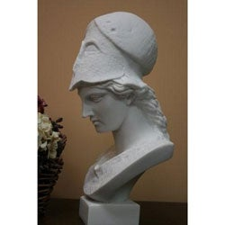 White Bonded Marble Athena Pallas Museum Replica Bust