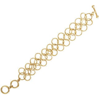 NEXTE Jewelry 14k Gold Overlay Corona Circle Bracelet (50.8 mm)
