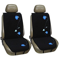 Morning Glory Flowers 2-Piece Automobile Seat Cover Set