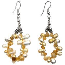 Silver Citrine Earrings (Thailand)