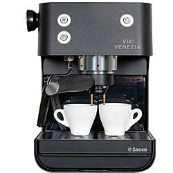 Saeco RI9366/47 Via Venezia Black Traditional Pump Driven Espresso Machine