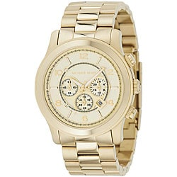 Michael Kors Men's MK8077 Yellow Gold-tone Bracelet Watch
