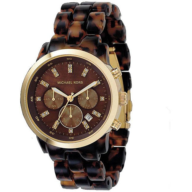 Michael Kors Women's MK5216 Tortoise Chronograph Watch