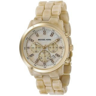 Michael Kors Women's MK5217 Acrylic Horn Chronograph Watch
