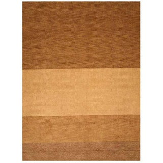 Yukon Light Brown Wool Rug (11'9 x 14'9)