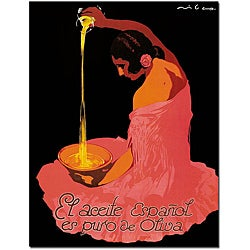 'Spanish Olive Oil' Canvas Poster