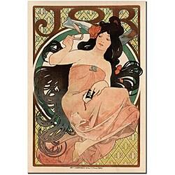 Alphonse Mucha 'Job' Gallery-wrapped Poster